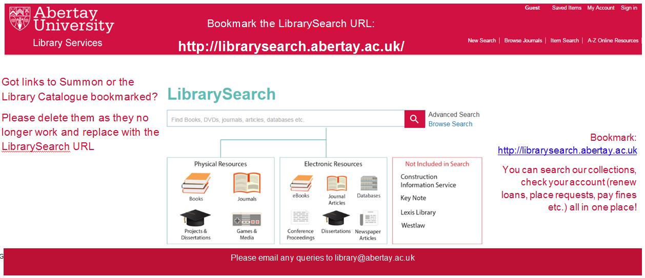 Bookmark URL